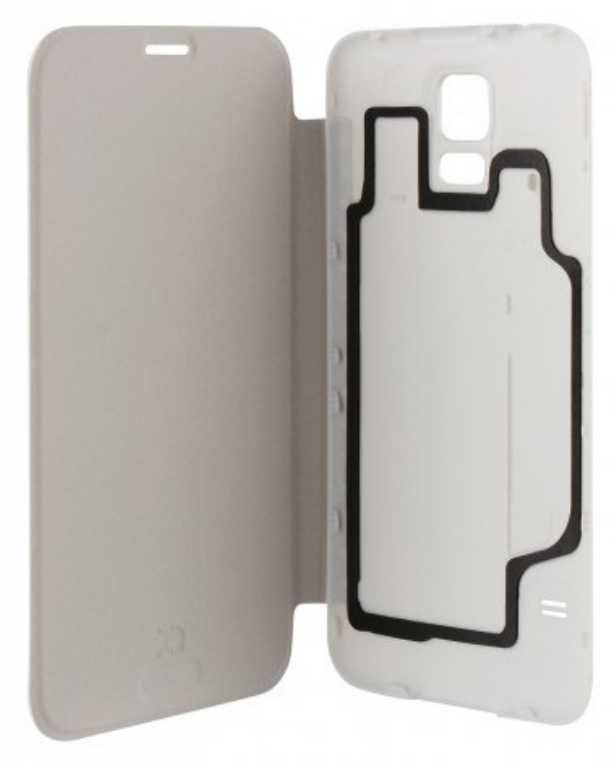 Xqisit DO SAMSUNG GALAXY S5 BATTERY DOOR CASE BIAŁY Etui