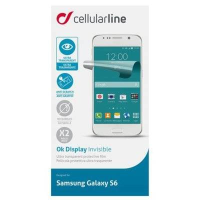Folia CELLULAR LINE Ok Display Invisible do Samsung Galaxy S6 2szt.
