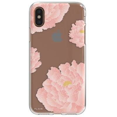 Etui FLAVR iPlate Pink Peonies do Apple iPhone X Wielokolorowy (30037)