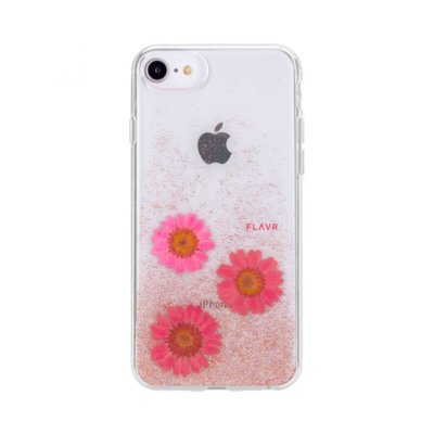 Etui FLAVR iPlate Real Flower Gloria do Apple iPhone 6/6s/7/8 Różowy (31457)