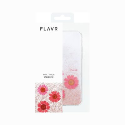 Etui FLAVR iPlate Real Flower Gloria do Apple iPhone X Różowy (31468)