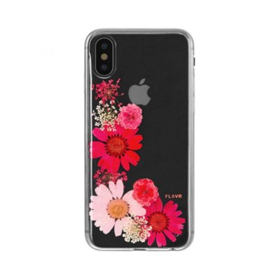 Etui FLAVR iPlate Real Flower Sofia do Apple iPhone X Wielokolorowy (31466)