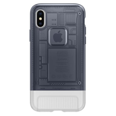 Etui na smartfon SPIGEN Classic C1 do Apple iPhone X Szary 057CS23197
