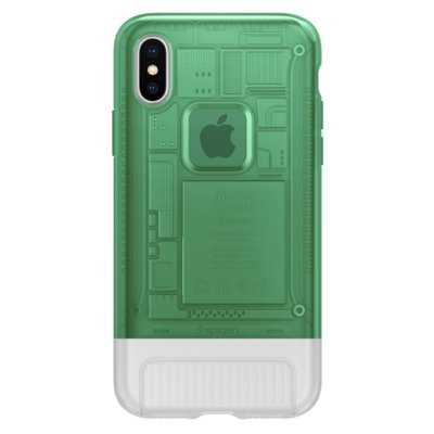 Etui na smartfon SPIGEN Classic C1 do Apple iPhone X Zielony 057CS23196