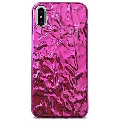 Etui PURO Glam Metal Flex Cover do Apple iPhone XS/X Różowy IPCXMETALF1PNK