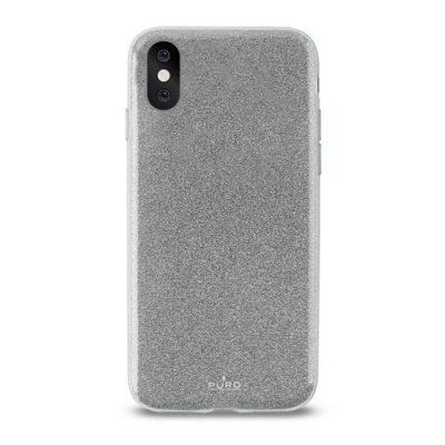 Etui PURO Glitter Shine Cover do Apple iPhone X Srebrny IPCXSHINESIL