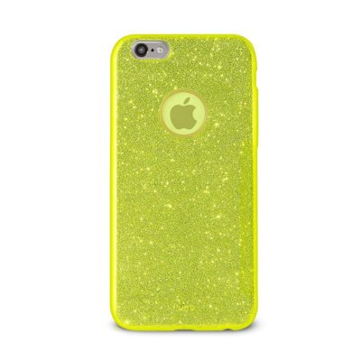 Etui PURO Glitter Shine Cover do iPhone 6/6s Limonkowy