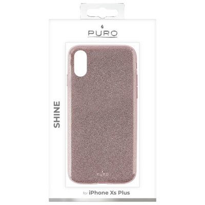 Etui PURO Glitter Shine Cover do iPhone Xs Max Rose Gold
