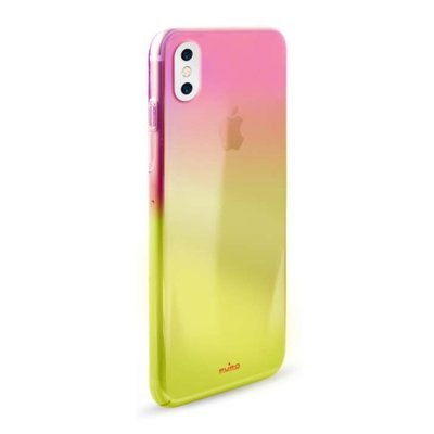 Etui PURO Hologram Cover do Apple iPhone X Pomarańczowy IPCXHOLOCRYORA