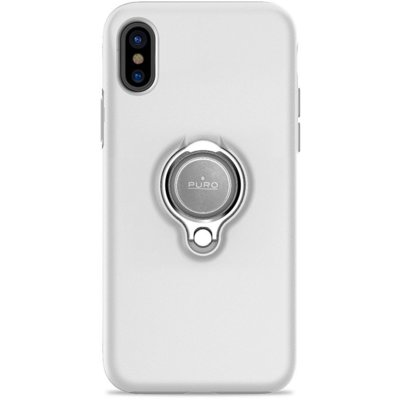 Etui PURO Magnet Ring Cover do Apple iPhone X Biały IPCXMAGRINGWHI