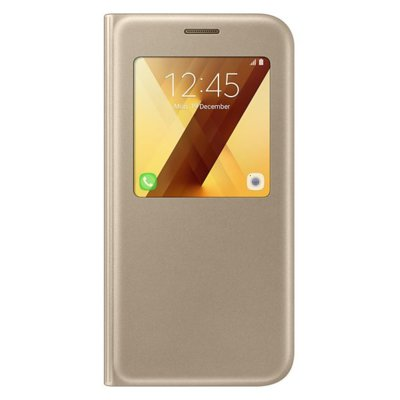 Etui SAMSUNG S View Standing Cover do Galaxy A5 (2017) Złoty
