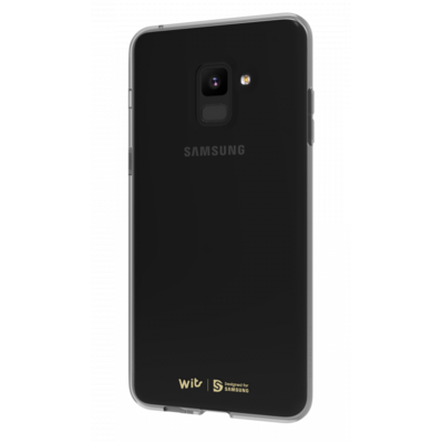 Etui SAMSUNG Soft Cover Clear do Samsung Galaxy A8 2018 Czarny GP-A530WSCPAAC