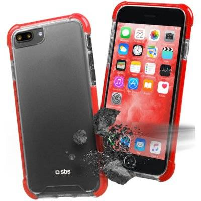 Etui SBS Hard Shock Cover do smartfona Apple iPhone 8 Plus/7 Plus Czerwony TECOVERSHOCKIP7PT