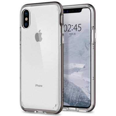Etui SPIGEN Neo Hybrid Crystal do Apple iPhone X Szary