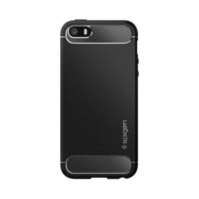Etui SPIGEN Rugged Armor do Apple iPhone 5/5S/SE Czarny