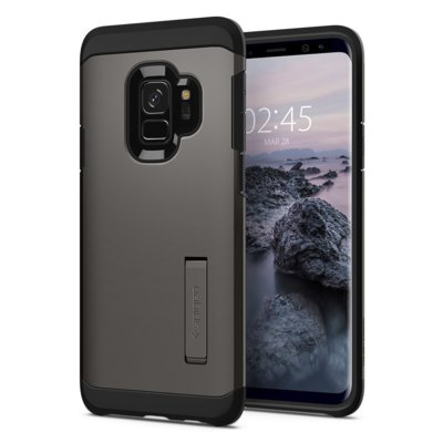 Etui SPIGEN Tough Armor do Samsung Galaxy S9 Stalowy