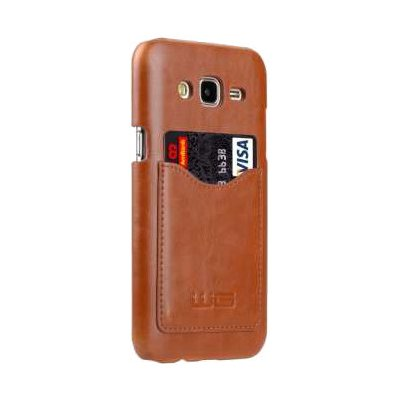 Etui WG Leather snap cover do Samsung Galaxy J5 (2016) Brązowy
