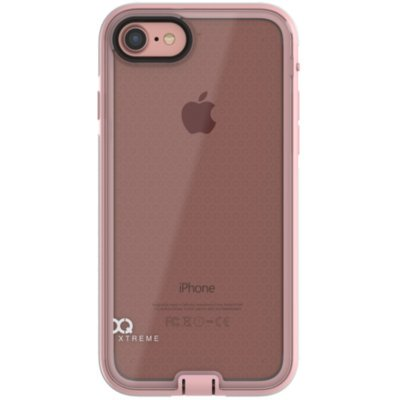 Etui XQISIT Nuson Xtreme do Apple iPhone 7 Różowo-złoty