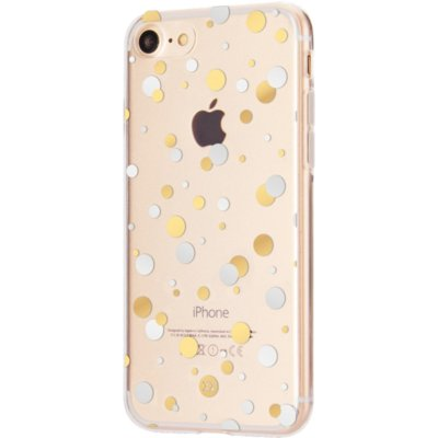 Etui XQISIT Shell Dots do Apple iPhone 7 Wielokolorowy