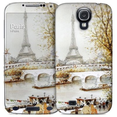 Pokrowiec I-PAINT Hard Case + Skin do Galaxy S4 Paris Painting