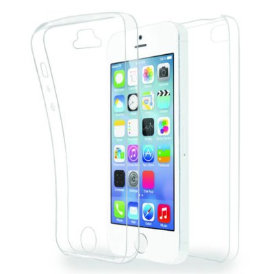 Etui AZURI Ultra cienkie TPU Apple iPhone 5, przód i tył, transparentne