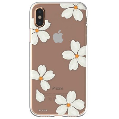 Etui FLAVR iPlate White Petals do Apple iPhone X Wielokolorowy (30041)