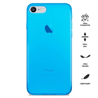 Etui PURO 0.3 Nude do iPhone 7 Fluo Blue