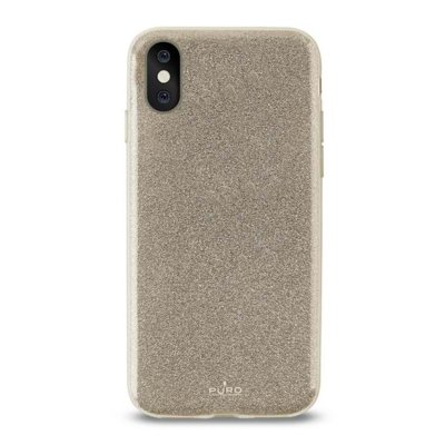 Etui PURO Glitter Shine Cover do Apple iPhone X Złoty IPCXSHINEGOLD