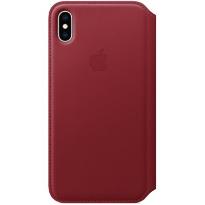 Skórzane etui APPLE do iPhone XS Max Bordowy MRX32ZM/A