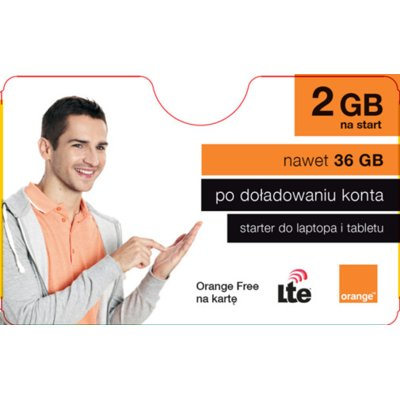 Starter ORANGE Free na kartę 2GB na Start