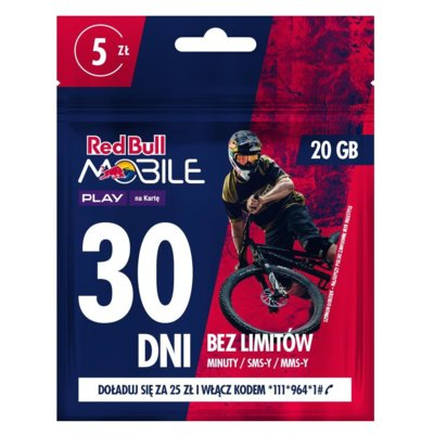 Starter PLAY Red Bull Mobile 20GB/5PLN
