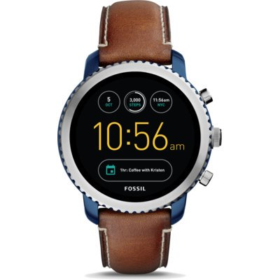 SmartWatch FOSSIL Q Explorist Luggage Leather FTW4004